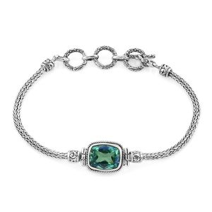 Bali Legacy Collection Peacock Quartz Sterling Silver Bracelet (7.00 In) TGW 5.84 cts.