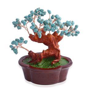 Howlite Gemstone Chips, Chroma, Copper Decorative Tree (7x4 in) TGW 625.00 cts.