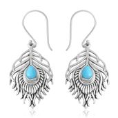 Bali Legacy Collection Arizona Sleeping Beauty Turquoise Sterling Silver Earrings TGW 1.44 cts.