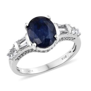 Customer Appreciation Day Masoala Sapphire, White Topaz Platinum Over Sterling Silver Ring (Size 8.0) TGW 7.19 cts.