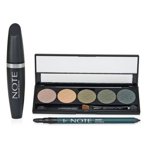 NOTE All Eyes On You Set - Eyeshadow, Mascara and Eye Pencil (Green)