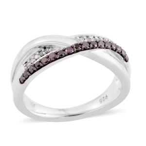 Diamond, Purple Diamond (IR) Sterling Silver Ring (Size 6.5) TDiaWt 0.25 cts, TGW 0.25 cts.