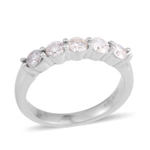 14K WG Diamond (H I1) Ring (Size 7.0) TDiaWt 0.75 cts, TGW 0.75 cts.