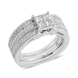 14K WG Diamond (G SI2) Ring Set (Size 7.0) TDiaWt 1.00 cts, TGW 1.00 cts.