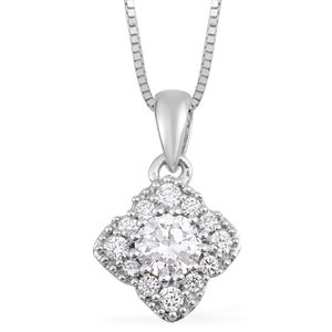 14K WG Diamond (H SI2) Pendant with Chain (18 in) TDiaWt 0.33 cts, TGW 0.33 cts.
