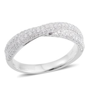 14K WG Diamond (H I2) Ring (Size 7.0) TDiaWt 0.75 cts, TGW 0.75 cts.