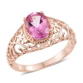 Pure Pink Mystic Topaz Vermeil RG Over Sterling Silver Ring (Size 7.0) TGW 3.00 cts.