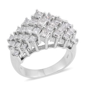10K WG Diamond (H I1) Ring (Size 7.0) TDiaWt 2.00 cts, TGW 2.00 cts.