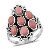 Oregon Peach Opal Sterling Silver Ring (Size 5.0) TGW 2.75 cts.