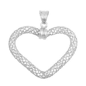 GP Sterling Silver Openwork Heart Pendant without Chain (2.8 g)