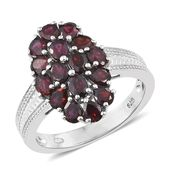 Dan's Collector Deal Anthill Garnet Platinum Over Sterling Silver Ring (Size 5.0) TGW 3.20 cts.