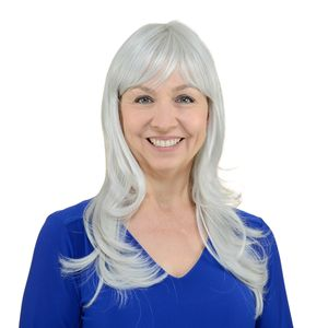 One Time Only Easy Wear Hair Shelley Wig - Silver