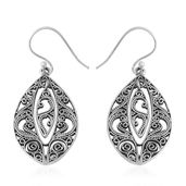 Sterling Silver Openwork Dangle Earrings (5.37g)