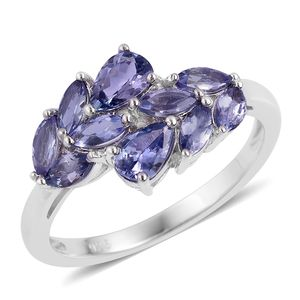 Tanzanite Sterling Silver Bypass Ring (Size 7.0) TGW 1.80 cts.