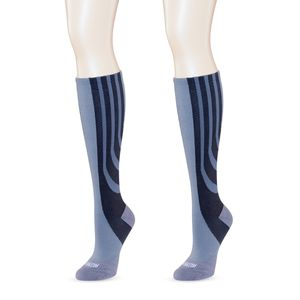 SANKOM-Grey Patent Socks Support, Health & Smart Compression (Improve Circulation)-Plus 1 Size 5-7