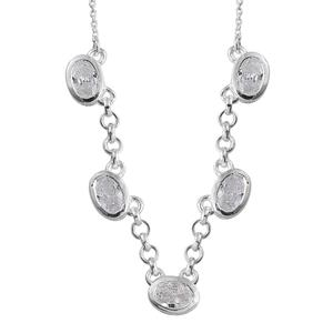 Simulated Diamond Sterling Silver Necklace (18 in) TGW 3.48 cts.