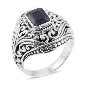 Bali Legacy Collection Madagascar Blue Sapphire Sterling Silver Ring (Size 7.0) TGW 2.57 cts.