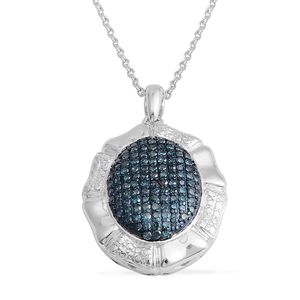 Blue Diamond (IR) Sterling Silver Pendant With Chain TDiaWt 1.75 cts, TGW 1.75 cts.