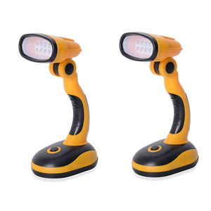 TLV Yellow Set of 2 Flexible Cordless Desk Lamp (Requires 3 AA Batteries)