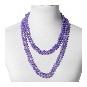 Burmese Purple Jade Beads Endless Necklace (100 in) TGW 1091.00 cts.