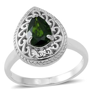 Russian Diopside Sterling Silver Ring (Size 8.0) TGW 1.33 cts.