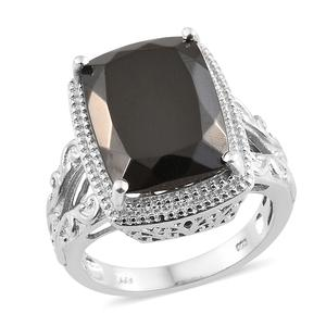 Shungite Platinum Over Sterling Silver Ring (Size 8.0) TGW 8.70 cts.