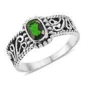 Russian Diopside Sterling Silver Ring (Size 8.0) TGW 0.91 cts.