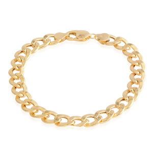 14K YG Cuban Chain Bracelet (9.00 In) (9.5 mm)