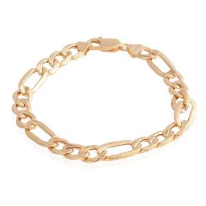 14K YG Figaro Chain Bracelet (8.00 In) (8.6 mm)