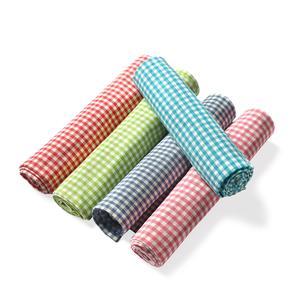 Set of 5 Multi Color Checks Pattern 100% Cotton Kitchen Towels