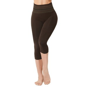 SANKOM-Black Shimmer Slimmer and Posture Shaper for Exclusive Comfort (Yoga Fitness Wear)-S/M