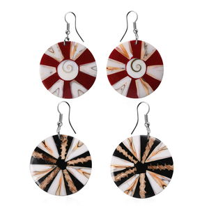 Set of 2 Shell Dangle Stainless Steel Earrings