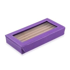Voilet Eco Leatherette 50 Ring Box