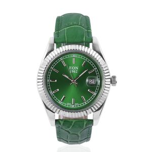 EXECUTIVE EON 1962 Weekender Swiss Movement Watch with Genuine Leather Band (Green)