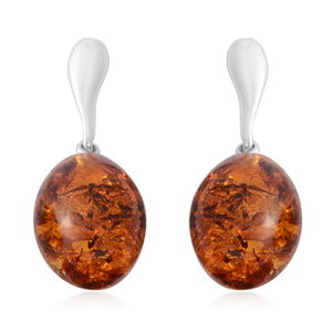Baltic Amber Sterling Silver Drop Earrings