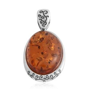 Baltic Amber Sterling Silver Pendant without Chain