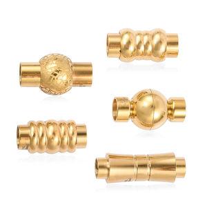 Gem Workshop Stainless Steel Set of 5 Magnetic Clasps (5, 6 mm)