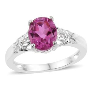African Lilac Quartz, Cambodian Zircon Sterling Silver Ring (Size 5.0) TGW 3.14 cts.