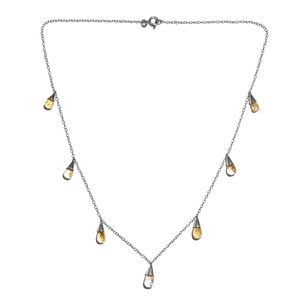 Brazilian Citrine Platinum Over Sterling Silver Necklace (18 in) TGW 9.040 Cts. TGW 9.04 Cts.