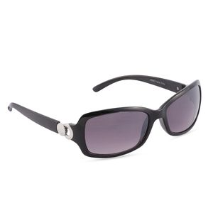 VOX-Black UV Protected Impact Resistance Fashion Sunglasses with Silvertone Hinge