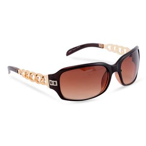 VOX - Dark Brown and Gold Fashion Sunglasses