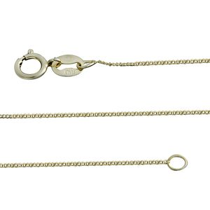 14K YG Over Sterling Silver Chain (22 in)