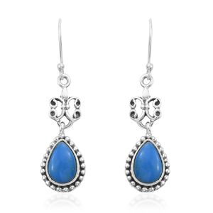 Artisan Crafted Ceruleite Sterling Silver Earrings TGW 2.76 cts.