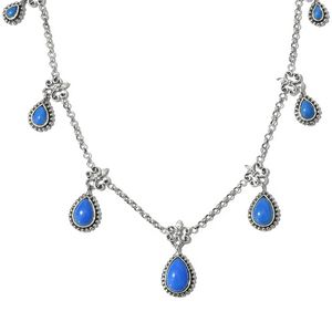 Artisan Crafted Ceruleite Sterling Silver Necklace (18 in) TGW 7.00 cts.