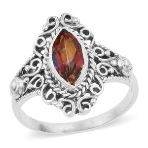 Artisan Crafted Northern Lights Twilight Topaz Sterling Silver Ring (Size 8.0) TGW 2.07 cts.