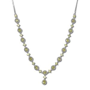 Madagascar Sphene Platinum Over Sterling Silver Necklace (18 in) TGW 4.63 cts.