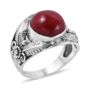 Bali Legacy Collection Sponge Coral Sterling Silver Ring (Size 7.0)
