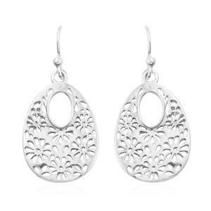 Artisan Crafted Sterling Silver Floral Earrings (3.9 g)