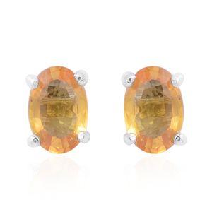 Customer Appreciation DOORBUSTER Yellow Sapphire Sterling Silver Stud Earrings TGW 1.16 cts.