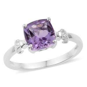 Rose De France Amethyst Sterling Silver Ring (Size 7.0) TGW 2.10 cts.